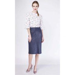 Spódniczki: Granatowa Spódnica Ołówkowa Midi