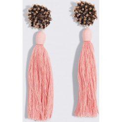 Kolczyki damskie: MANGO Kolczyki z chwostami – Pink