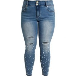 City Chic SWEET Jeans Skinny Fit light denim. Niebieskie jeansy damskie relaxed fit City Chic, z bawełny. Za 419,00 zł.