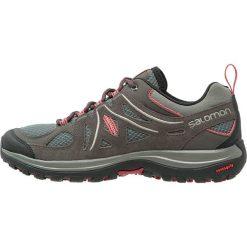 Salomon ELLIPSE 2 AERO  Obuwie hikingowe castor gray/beluga/mineral red. Szare buty sportowe damskie Salomon, z gumy, outdoorowe. Za 389,00 zł.
