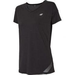Koszulka treningowa damska TSDF109 - czarny. Czarne bluzki oversize 4f, z dzianiny, z dekoltem na plecach. Za 59,99 zł.