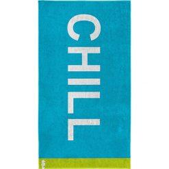 """Kąpielówki męskie: Ręcznik plażowy """"Chill"""" w kolorze turkusowym"""