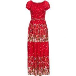 Sukienki: Sukienka z elastyczną wstawką bonprix czerwony w kwiaty