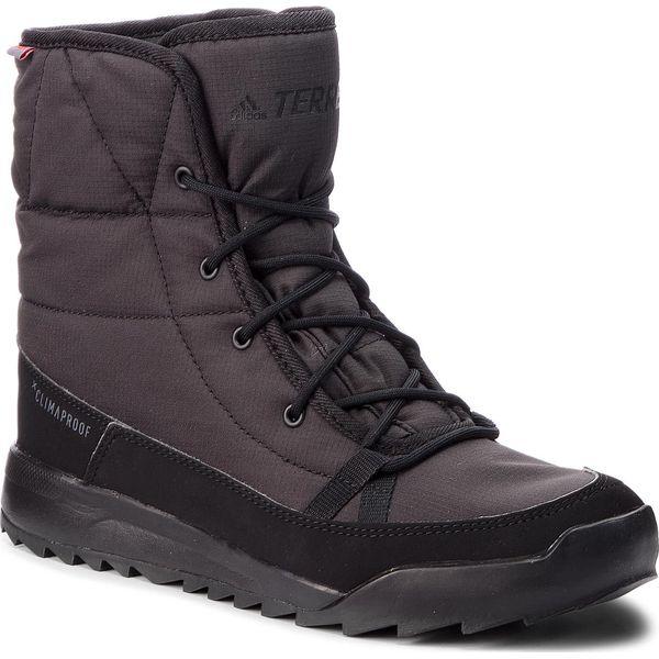 98e36a2de0fa9 Buty adidas - Terrex Choleah Padded Cp S80748 Cblack/Cblack/Grefiv - Czarne  kozaki damskie Adidas, na zimę, ze skóry ekologicznej, bez zapięcia.