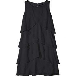Sukienki dziewczęce: Sukienka z falbanami bonprix czarny