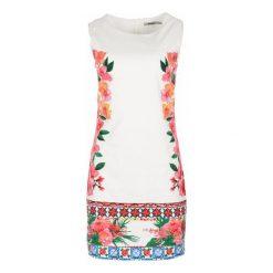 Desigual Sukienka Damska Cher 36 Biały. Białe sukienki balowe marki Desigual, z materiału, z okrągłym kołnierzem. W wyprzedaży za 319,00 zł.