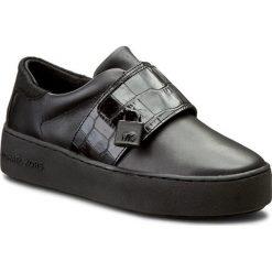 Sneakersy MICHAEL MICHAEL KORS - Kade Sneaker 43F6KDFP1L Black. Czarne sneakersy damskie marki MICHAEL Michael Kors, z gumy, przed kolano, na wysokim obcasie. W wyprzedaży za 529,00 zł.