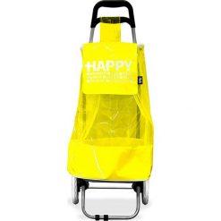 Wózek zakupowy w kolorze żółto-czarnym - 35,5 x 95 x 32,5 cm. Czarne shopper bag damskie Clean & Co., z tkaniny. W wyprzedaży za 86,95 zł.