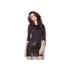 Sukienka Cleo czarna. Czarne sukienki koktajlowe marki ivon, na co dzień, z klasycznym kołnierzykiem, trapezowe. Za 139,00 zł.