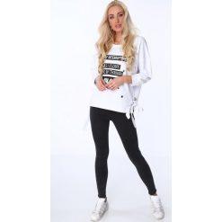 Bluzy damskie: Bluza z nadrukiem biała 62753
