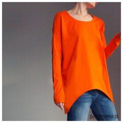 Wąski rękaw bluzka Pomarańczowa. Brązowe bluzki damskie Pakamera, z długim rękawem. Za 159,00 zł.