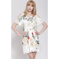 Sukienki hiszpanki: Jasnożółta Sukienka Orchid Nights