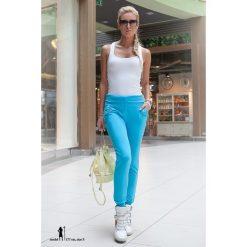Spodnie dresowe z podwyższonym stanem turkusowe 094. Niebieskie spodnie dresowe damskie Fasardi, m, z dresówki. Za 29,00 zł.