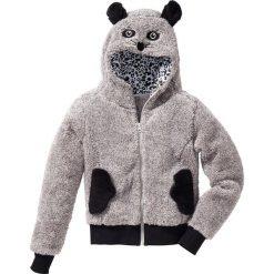 Bluzy dziewczęce: Bluza z polaru z motywem zwierzątka bonprix jasnoszary Mysz