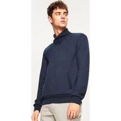 Bluza kangurka z kołnierzem - Granatowy. Czerwone bluzy męskie rozpinane marki KALENJI, m, z elastanu, z długim rękawem, długie. Za 69,99 zł.