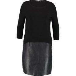 Sukienki dzianinowe: comma Sukienka dzianinowa black