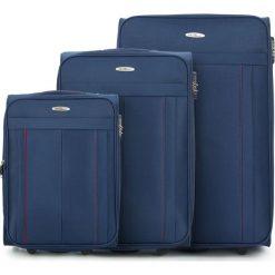 Zestaw walizek V25-3S-27S-90. Niebieskie walizki marki Wittchen. Za 434,31 zł.