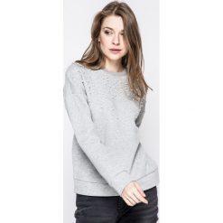 Only - Bluza Damian. Szare bluzy damskie marki ONLY, s, z bawełny, casualowe, z okrągłym kołnierzem. W wyprzedaży za 79,90 zł.