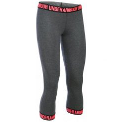 Under Armour Legginsy Favorite Capri Hem Carbon Heather Black Brilliance L. Czarne legginsy damskie do biegania marki Feelj!, l, z dzianiny. W wyprzedaży za 119,00 zł.