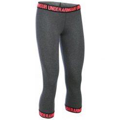 Legginsy damskie do fitnessu: Under Armour Legginsy Favorite Capri Hem Carbon Heather Black Brilliance Xs