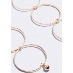 Kolczyki damskie: NA-KD Accessories Kolczyki Big Ring – Gold