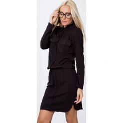 Sukienka zapinana na guziki czarna 3694. Czarne sukienki Fasardi, l. Za 79,00 zł.