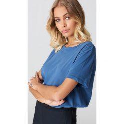 NA-KD Basic T-shirt oversize - Blue. Różowe t-shirty damskie marki NA-KD Basic, z bawełny. Za 52,95 zł.