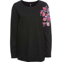 Bluzy rozpinane damskie: Bluza w kwiaty bonprix czarny w kwiaty