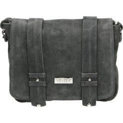 Torba - 100-142-O C G. Szare torebki klasyczne damskie Venezia, ze skóry. Za 195,00 zł.
