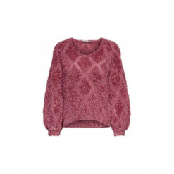 Swetry Only  JERSEY  onlMALIA 7/8 PULLOVERKNT. Czerwone swetry klasyczne damskie ONLY, l, z jersey. Za 177,40 zł.
