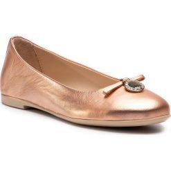 Baleriny EMPORIO ARMANI - XXD001 XON04 00163 Copper. Czerwone baleriny damskie Emporio Armani, ze skóry, na płaskiej podeszwie. Za 929,00 zł.