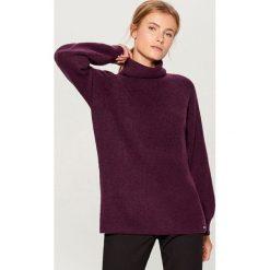 Sweter z golfem - Bordowy. Czerwone golfy damskie Mohito, l. Za 129,99 zł.