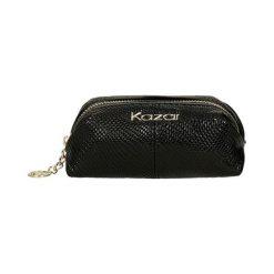 Torebki klasyczne damskie: Skórzana torebka w kolorze czarnym – (S)15 x (W)6,5 x (G)7 cm