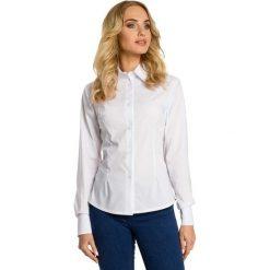 Bielizna damska: Biała Koszula Taliowana z Ozdobnymi Tasiemkami