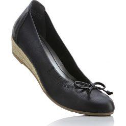 Espadryle na koturnie Marco Tozzi bonprix czarny. Czarne buty ślubne damskie bonprix, na koturnie. Za 79,99 zł.