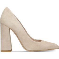 Czółenka INGRID. Szare buty ślubne damskie marki Gino Rossi, z gumy. Za 199,90 zł.