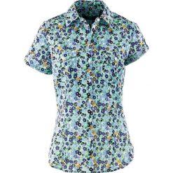 Bluzki damskie: Bluzka z krótkim rękawem bonprix szafirowy w kwiaty