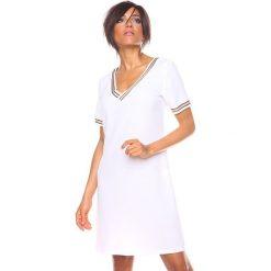 """Sukienki hiszpanki: Sukienka """"Marie"""" w kolorze białym"""