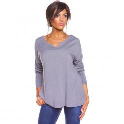 """Sweter """"Coco"""" w kolorze szarym. Szare swetry oversize damskie marki So Cachemire, s, z kaszmiru. W wyprzedaży za 165,95 zł."""