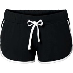 Szorty plażowe bonprix czarny. Czarne szorty damskie marki bonprix. Za 44,99 zł.