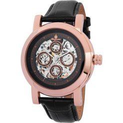 """Zegarki męskie: Zegarek """"Alexandria"""" w kolorze czarno-różowozłotym"""