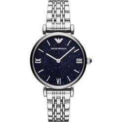 Emporio Armani - Zegarek AR11091. Szare zegarki damskie marki Emporio Armani, l, z nadrukiem, z bawełny, z okrągłym kołnierzem. Za 1449,00 zł.