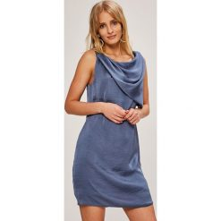 Answear - Sukienka. Szare sukienki mini marki ANSWEAR, na co dzień, l, z poliesteru, casualowe, z okrągłym kołnierzem, proste. W wyprzedaży za 99,90 zł.