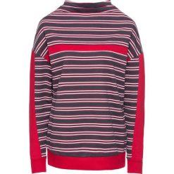Bluza dresowa bonprix ciemnoniebiesko-czerwono-biały w paski. Niebieskie bluzy damskie bonprix, w paski, z dresówki. Za 49,99 zł.