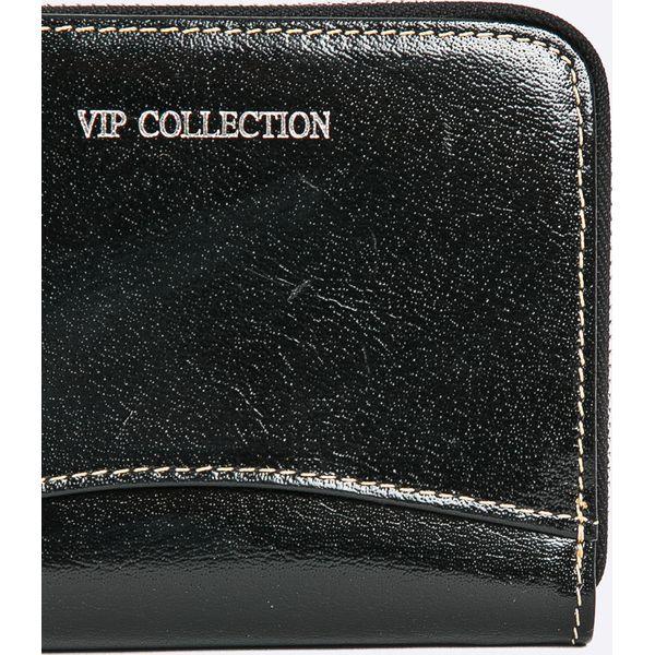 0148171402585 VIP COLLECTION - Portfel skórzany - Czarne portfele damskie VIP ...