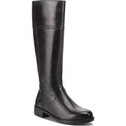 Oficerki TAMARIS - 1-25547-21 Black 001. Czarne buty zimowe damskie Tamaris, z materiału, na obcasie. Za 399,90 zł.