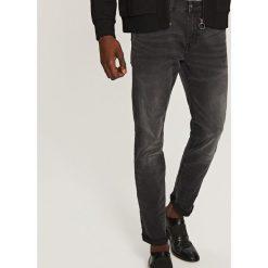 Rurki męskie: Jeansowe spodnie slim fit – Czarny