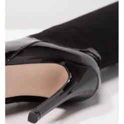 BEBO LEENA Kozaki na obcasie black. Czarne buty zimowe damskie BEBO, z materiału, na obcasie. W wyprzedaży za 136,95 zł.