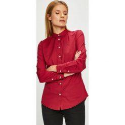 Tommy Jeans - Koszula. Czerwone koszule jeansowe damskie Tommy Jeans, l, casualowe, z klasycznym kołnierzykiem, z długim rękawem. Za 269,90 zł.