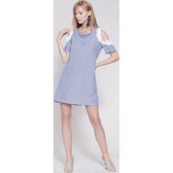 Sukienki hiszpanki: Niebieska Sukienka Craziest Thing